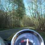 This was a moment from my first long trip of the 2009 season. I'd started out toward Boone, NC but wound up in Abingdon, VA. It was wonderful to ride down to Back Bone Rock on this beautiful Spring day and take this video for my Trisha.