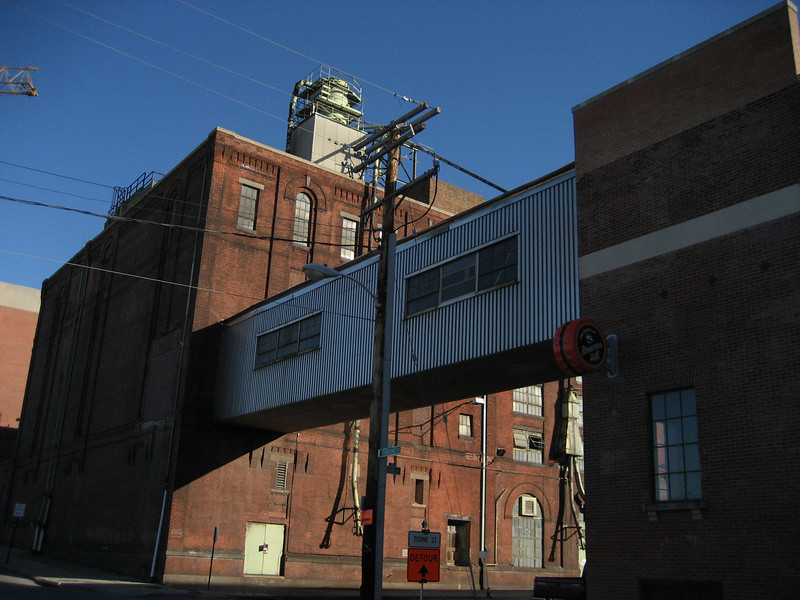 This is the Guenther Brewery off of O'Donnell Street.  It is now part of the Brewer's Hill redevelopment complex.