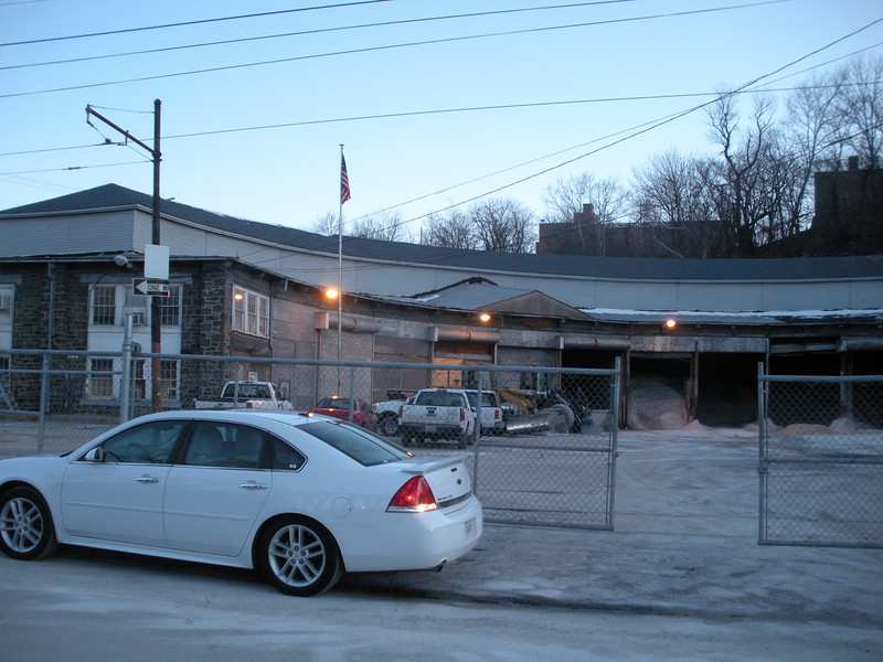 The Ma and Pa's roundhouse is now used by the city of Baltimore as a public works storage building.