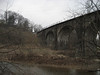 The Thomas Viaduct, which spans the Patapsco River.  Construction took two years and started in 1833.  It is hard to believe that this is minutes from BWI.