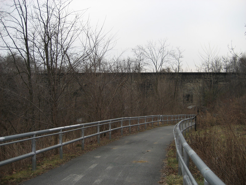The Carrollton Viaduct, the first stone masonry bridge built for railroad use and the oldest railroad bridge in use in the country.