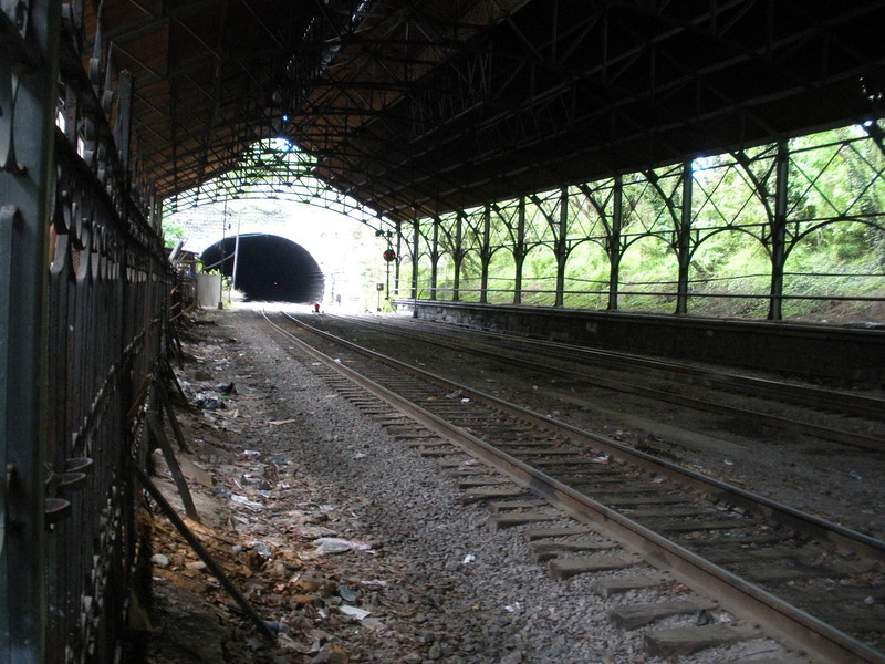 A view of the shed and the Howard Street Tunnel, which cuts under Baltimore.  This is looking south.