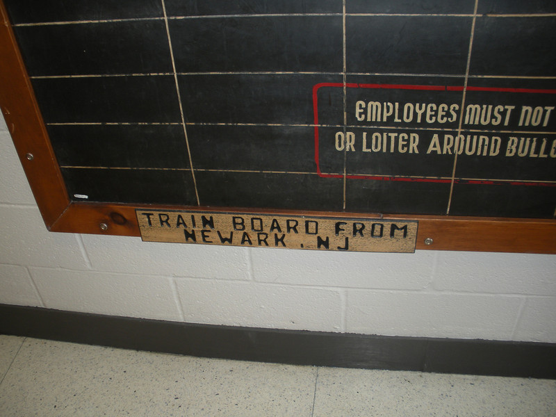 Great train board from Newark, where my dad grew up.
