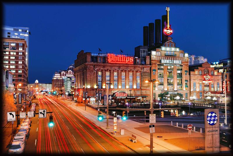 A Quiet Night on Pratt Street - Baltimore