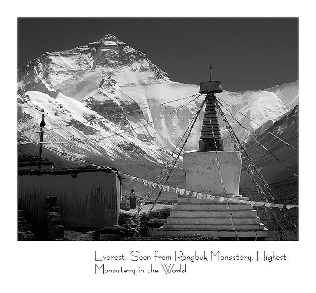 绒布寺 - 世界海拔最高的寺庙 (5200米)