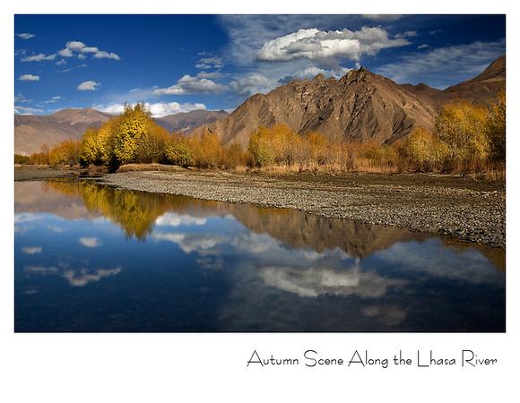 拉萨河畔的秋景