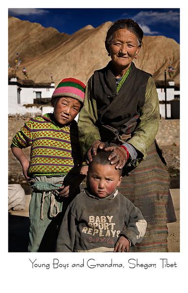 老祖母和她的俩个小孙子 - 协格尔(新定日)