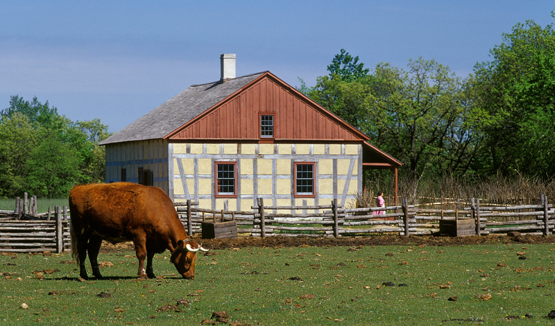 The 1860 Schulz farm in the German area of Old World Wisconsin.
