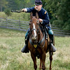 Cavalry train at the Civil War reenactment in 2004.