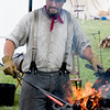 A travelling reenactor blacksmith who follows the Union Army.