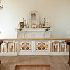 Alter in St. Peter's church in Crossroads village.  St. Peter's church built around 1839 was the first Catholic church in Milwaukee.