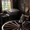 Internior of the Grotelueschen blacksmith shop in Crossroads village.