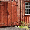 Rear door of the Grotelueschen blacksmith shop in Crossroads village.
