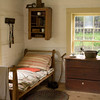 Bedroom in 1890 Danish farmhouse.  When Old World Wisconsin first opened in 1976 the Queen of Denmark came to dedicate this farm.