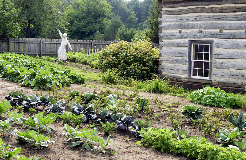 Garden at the 1890 Pedersen (Danish) farm.