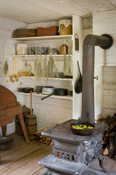 Kitchen of the 1890 Pedersen (Danish) farmhouse.