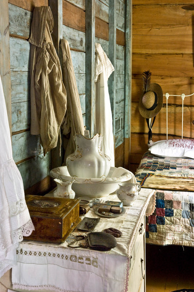 Bedroom in the 1915 Ketola (Finnish) farmhouse.