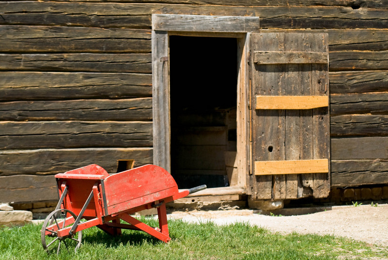 Entrance to the toolshed at the Ketola farm.