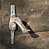 Handle to the dairy barn door at the 1915 Ketola farm.