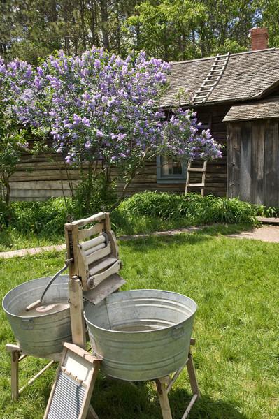 Laundry equipment at the 1915 Ketola (Finnish) farm.