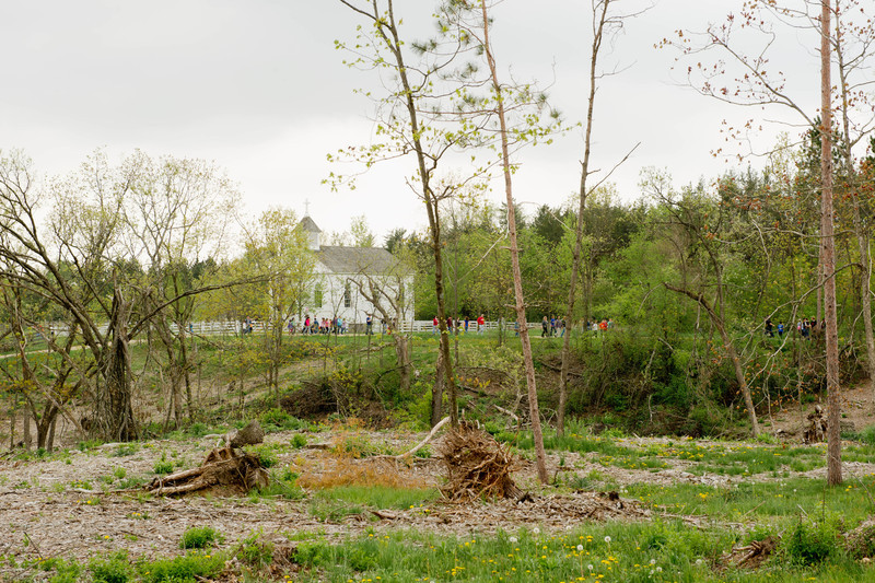 Devastation by the June 2010 tornado.
