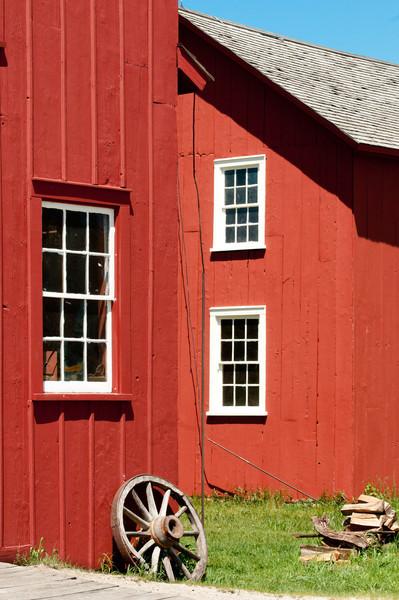 Grotelueschen blacksmith shop and Peterson wagon shop in Crossroads Village.