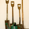 Garden tools at the Koepsell farm.