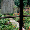 The Koepsells had a pleasant walk through the garden to their outhouse.