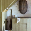 Interesting geometrical shapes in the summer kitchen at the Schottler farm.