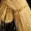 Sheaves of straw of the type used for the thatched roof on the Grube barn at the Schulz farm.