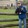Self portrait of Loyd Heath photographing at the Schulz farm in the German area.