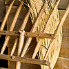 Wooden pitchfork in the Grube barn at the Schulz farm.