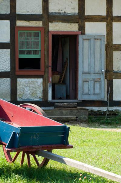 Back entrance to the Schulz farmhouse.
