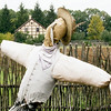 Scarecrow at the Schulz farm with the Koepsell farm in the background.