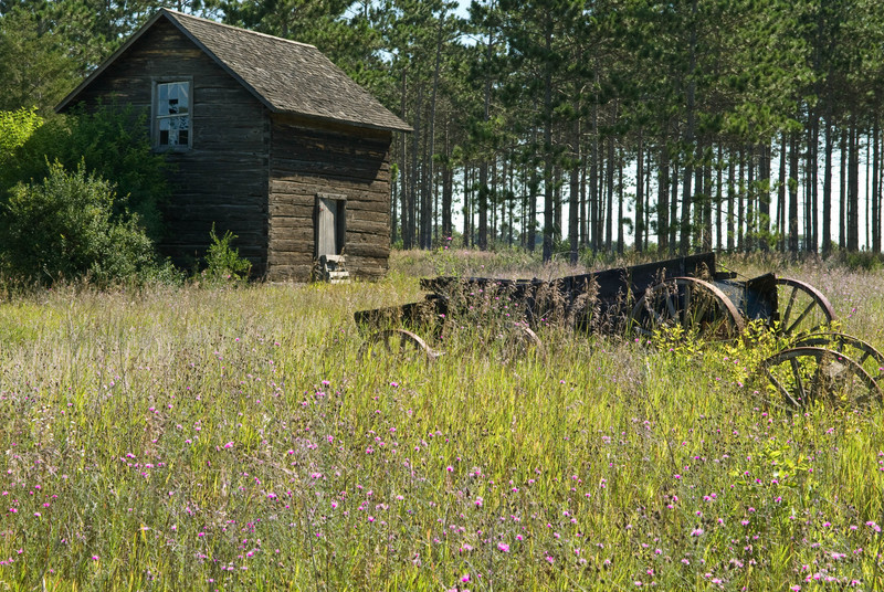 The Breen site contains buildings and farm equipment left behind when the Breen family  returned to Norway and abandoned their home in Wisconsin.
