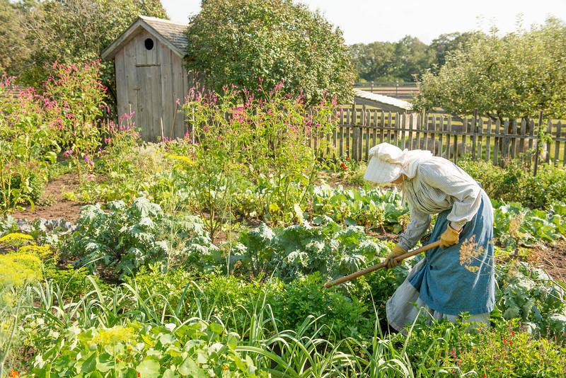 Gardeners working in the Kvaale garden.