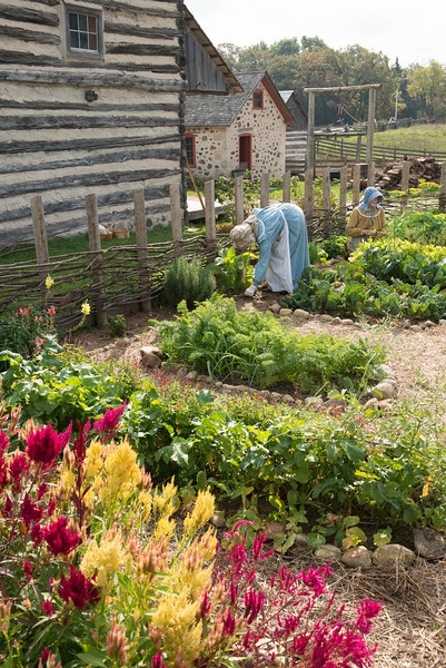The garden at the Schottler farmhouse.