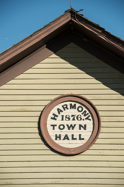 Harmony Town Hall in Crossroads village.