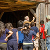Students at the Koepsell farm in the German area learn about 19th centrury construction methods.