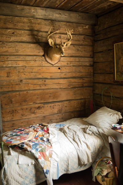 Bedroom in the Ketola farmhouse.