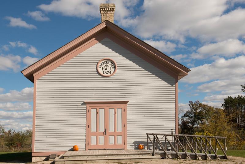 Caldwell Farmer's Club Hall in Crossroads village.