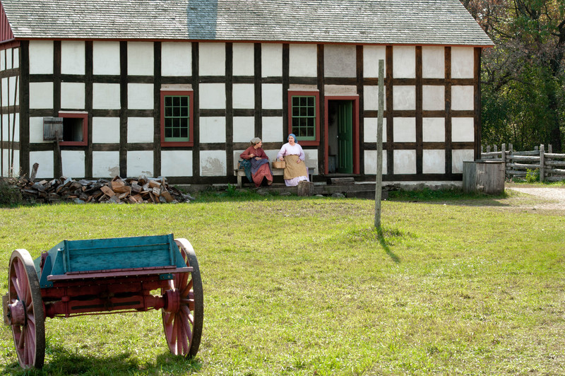 Schulz farmhouse in the German area