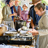 Volunteers and interpreters at the Autumn on the Farms special event enjoy a special farm dinner for them at the Koepsell farm