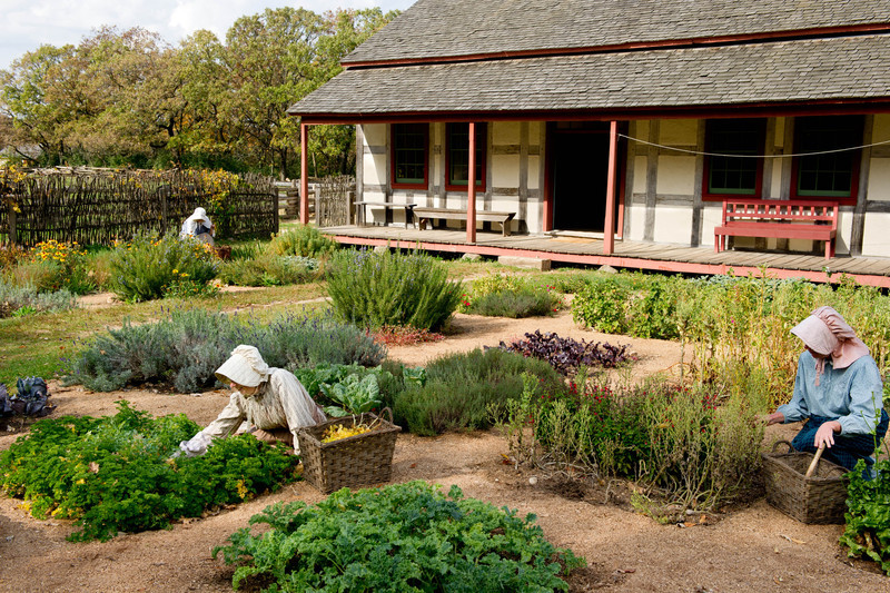 Garden at the Schulz Farm in the German area