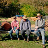 Workers at the historic sawmill take a break