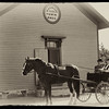 A horse and buggy at Harmony Town Hall just outside Crossroads Village