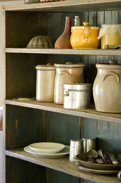 Kitchen equipment at the 1860 Schulz farmhouse in the German area.