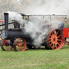 Steam engine used to drive a portable sawmill during the Autumn on the Farms special event in October.