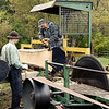 A portable steam engine powered sawmill used at the Autumn on the Farms special event in October.