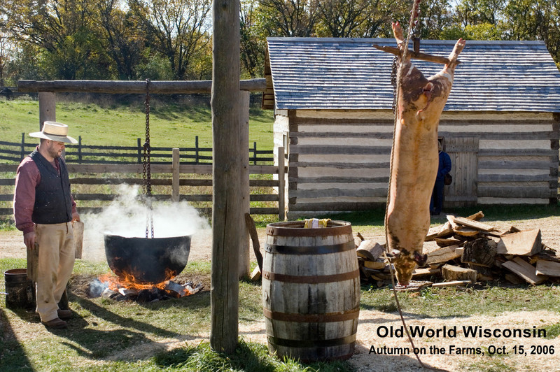 Scene at the 1875 German Schottler farm during the Autumn on the Farms special event in October.